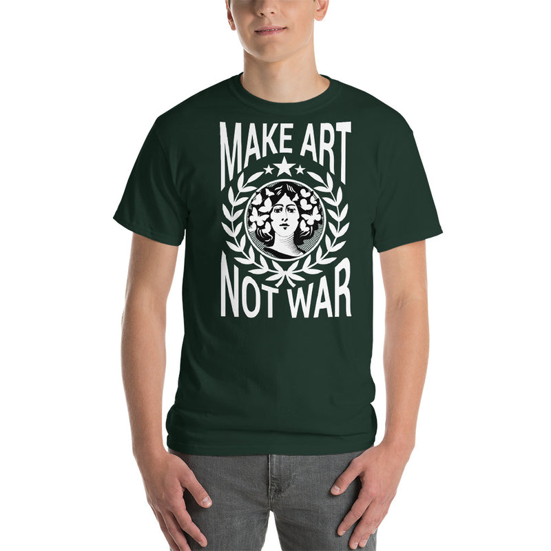 green shirt not war make art design for men and women