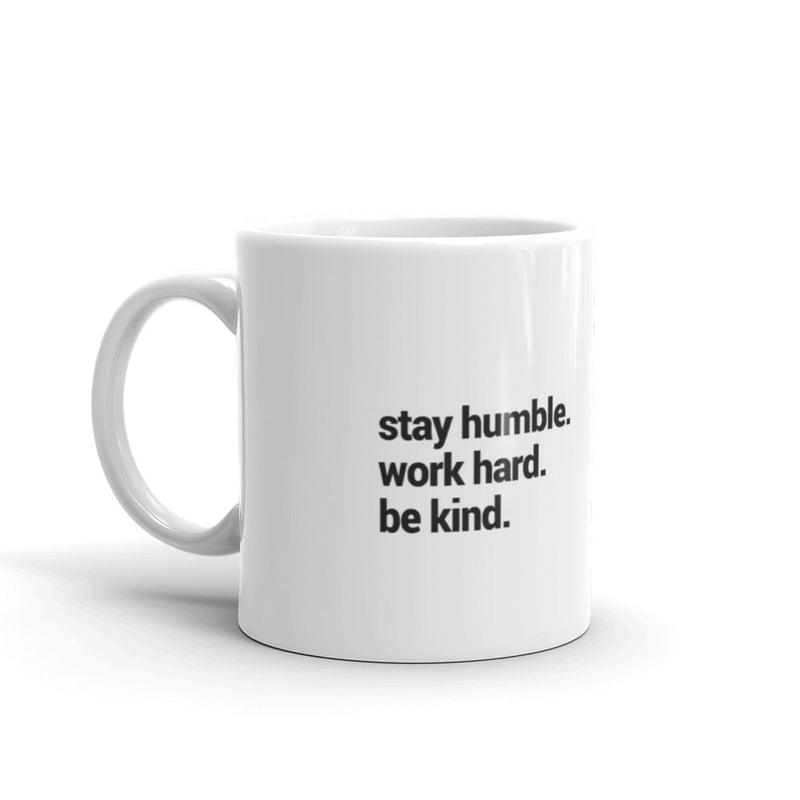 be humble side of the mug with custom monkey art piece