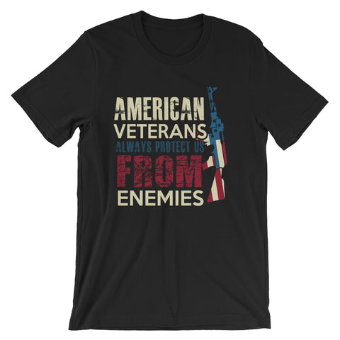 US vet protect us from our enemies- T-Shirt