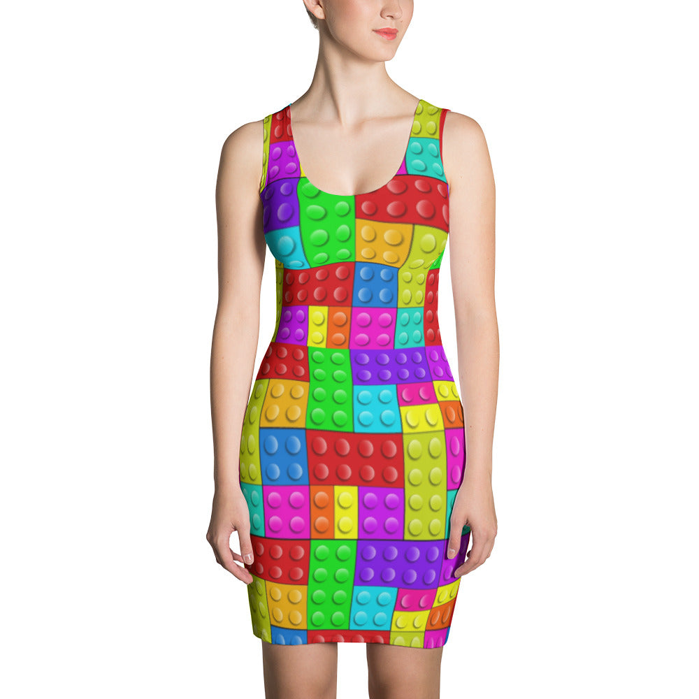 Lego block-Sublimation Cut & Sew Dress