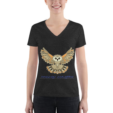 Modern Owl Evolution Women's V-neck Tee