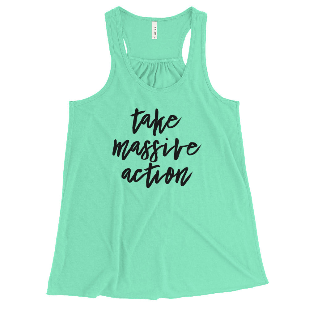 Take Massive Action Flowy Racerback Tank