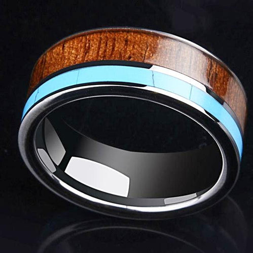 tungsten koa ring