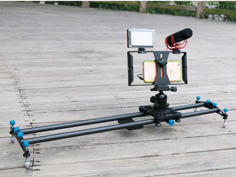 video slide editor for smart phone easily mount to any rack and allows side to side movement for under 30 dollars