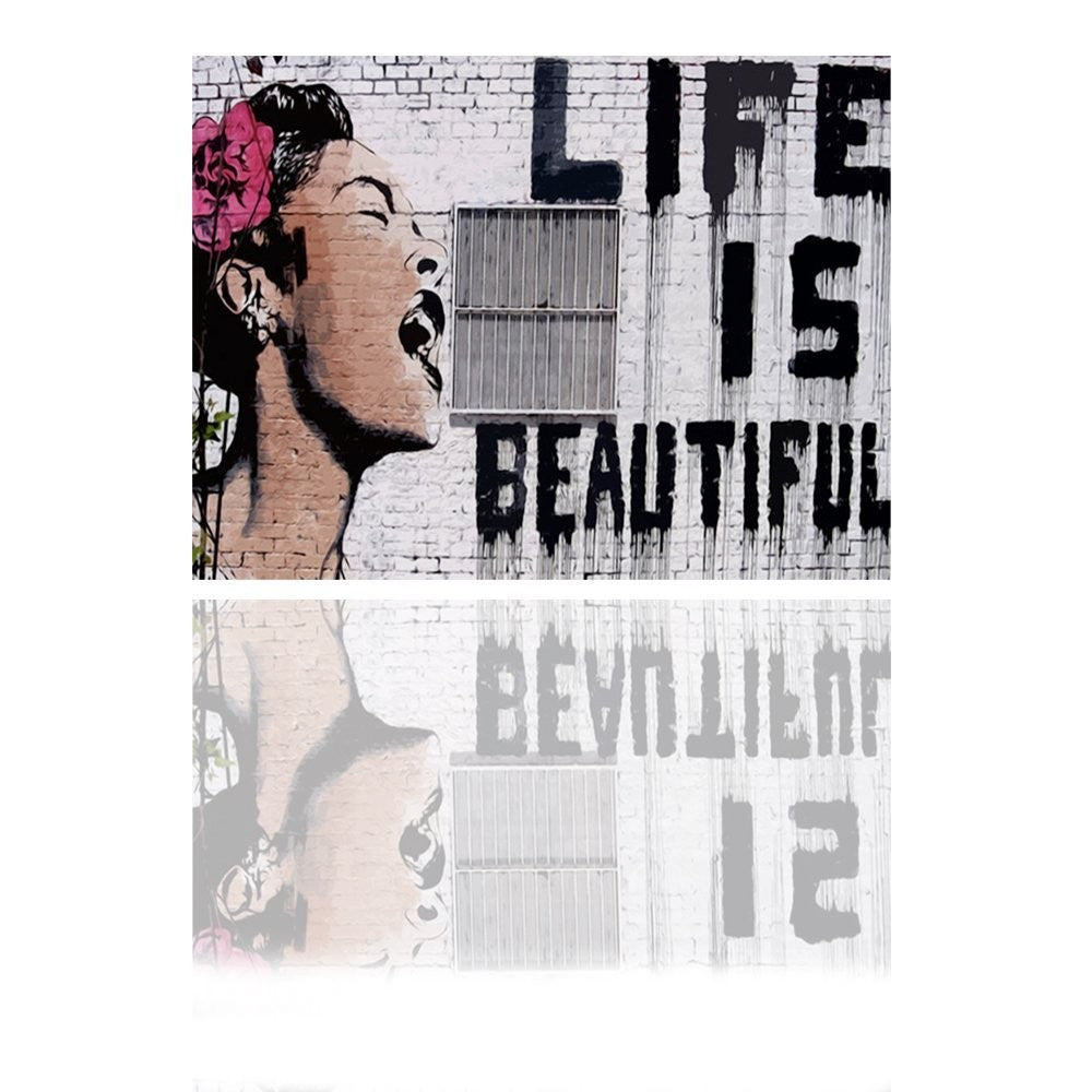 "Life Is Beautiful"",  Framed and Ready Canvas art print"