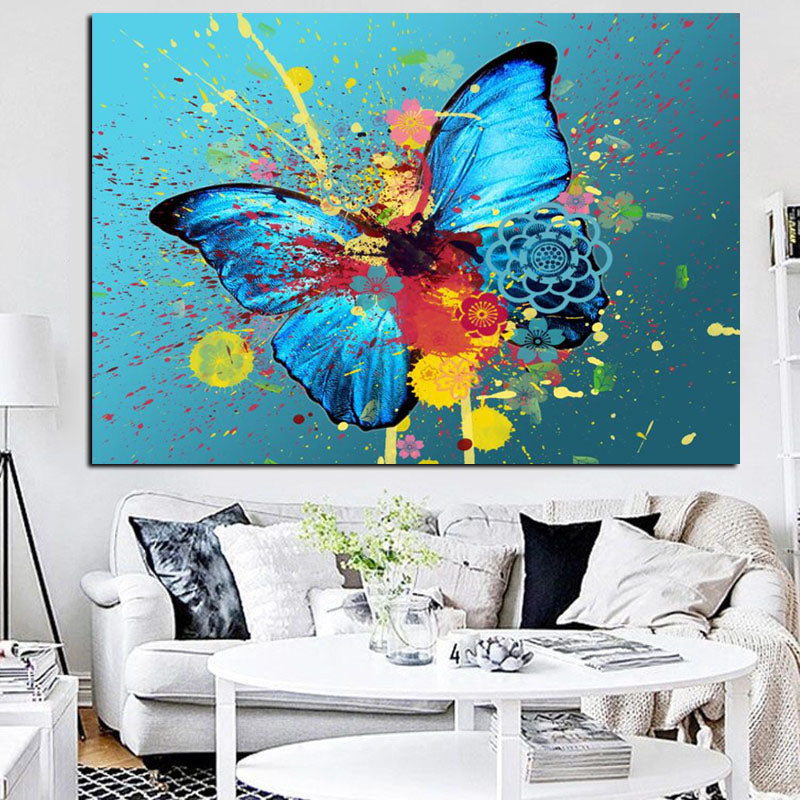 Butterfly Fluttering on Canvas