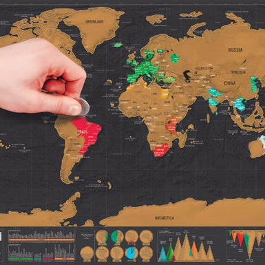 Luxury Edition Scratch World Map