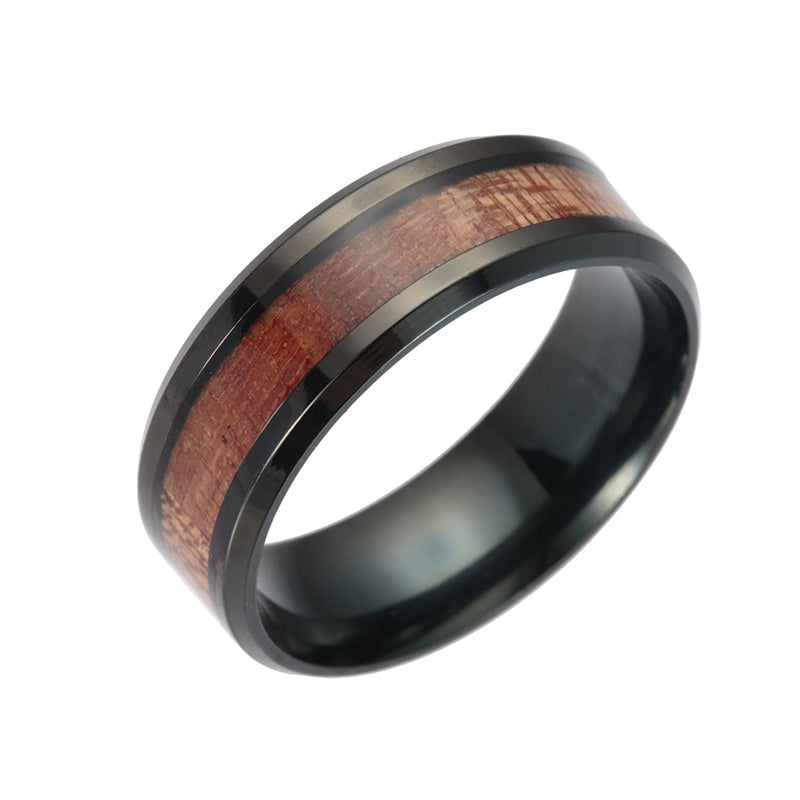 Acacia Wood/Stainless steel Ring
