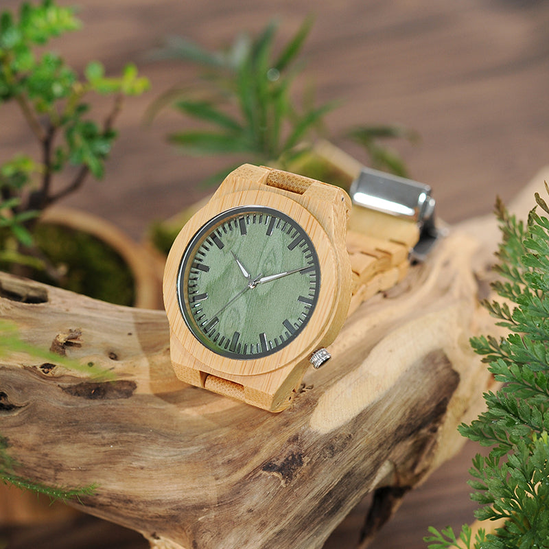 Ghost Eyes Bamboo Wood Watch