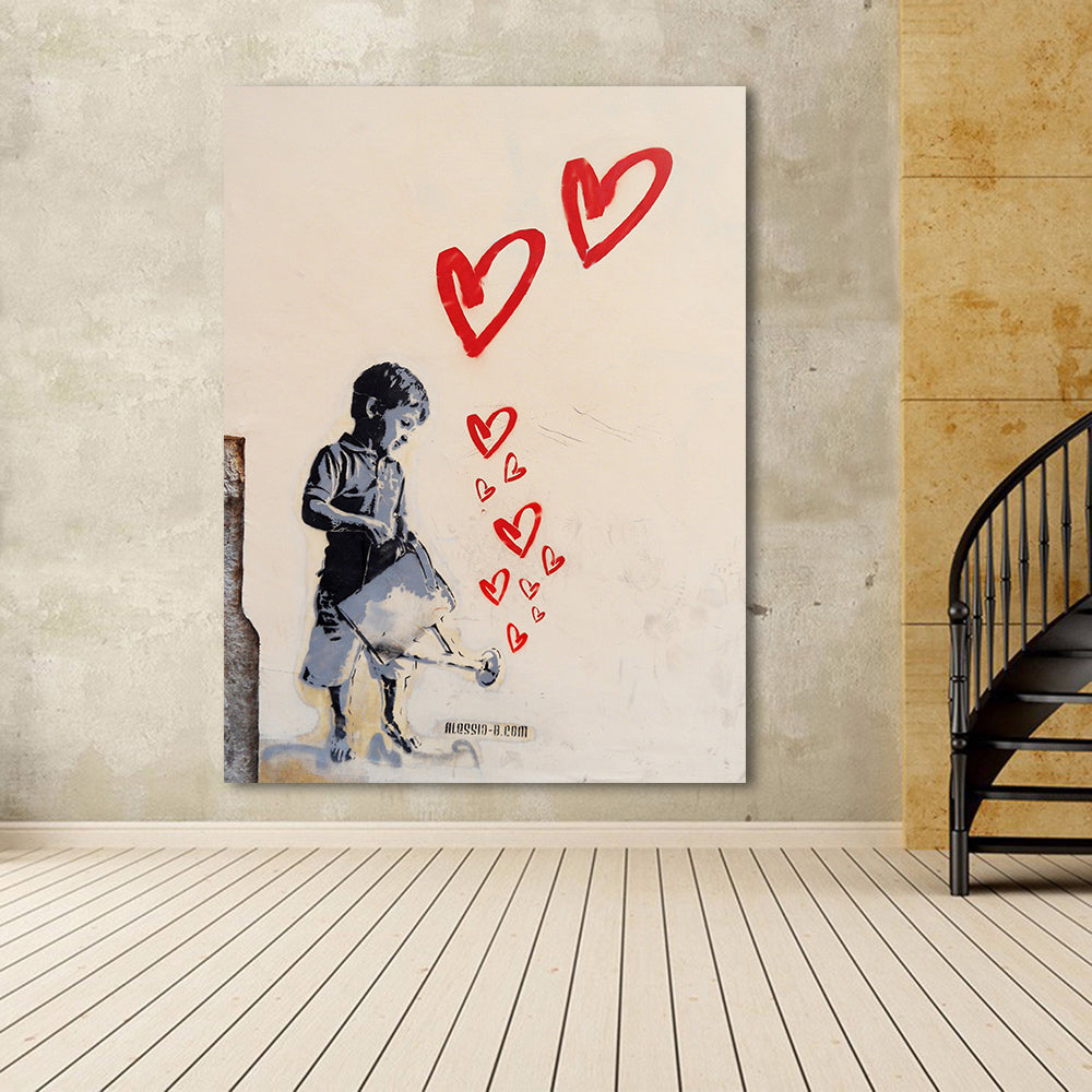 Banksy Street Art Watering the Heart  Printed