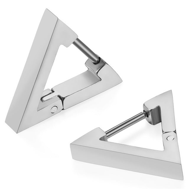 Triangle Stainless Steel Earrings