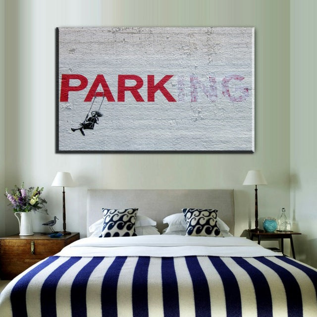 parking canvas art painting