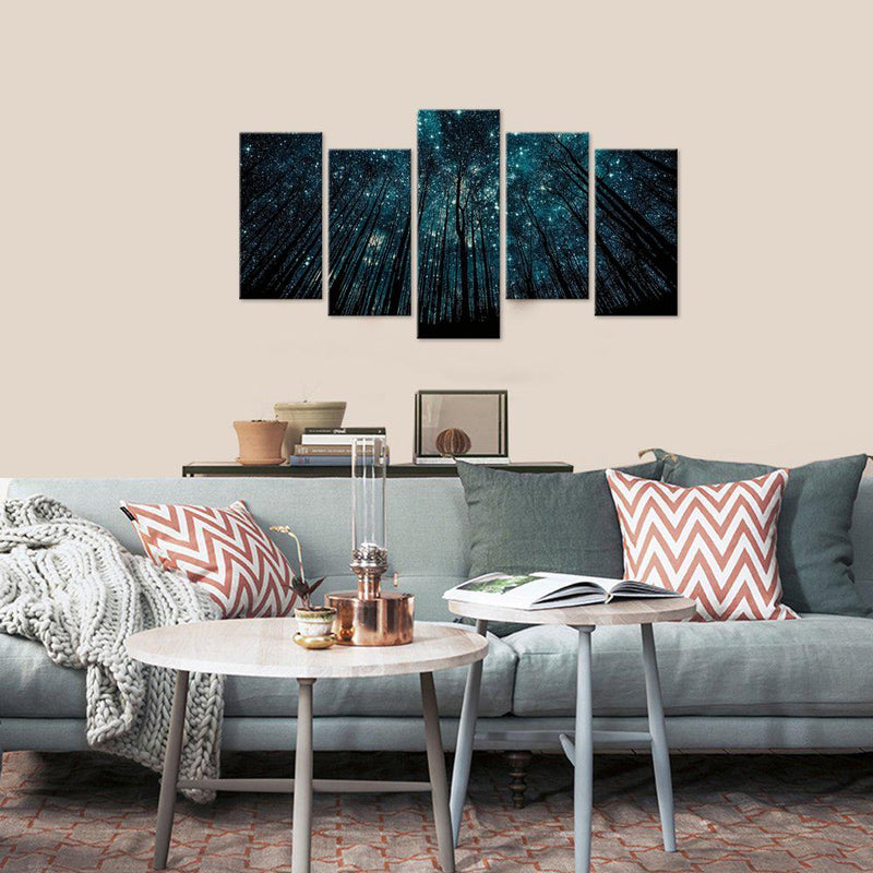 Canvas art 5 piece set starry night