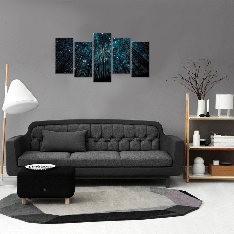 stars at night in a forest 5 piece set