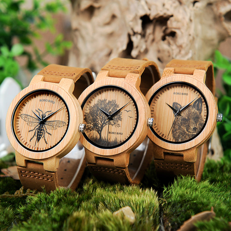 wildlife bamboo watch