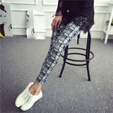 Plaid Print Pencil Pants