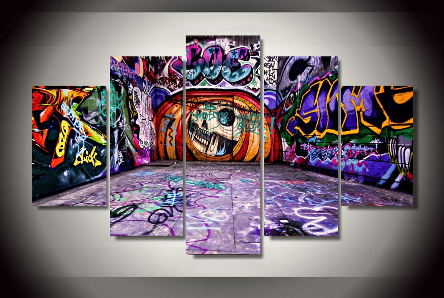 Graffiti  5 piece picture Print