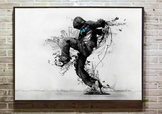 banksy hooded man canvas art