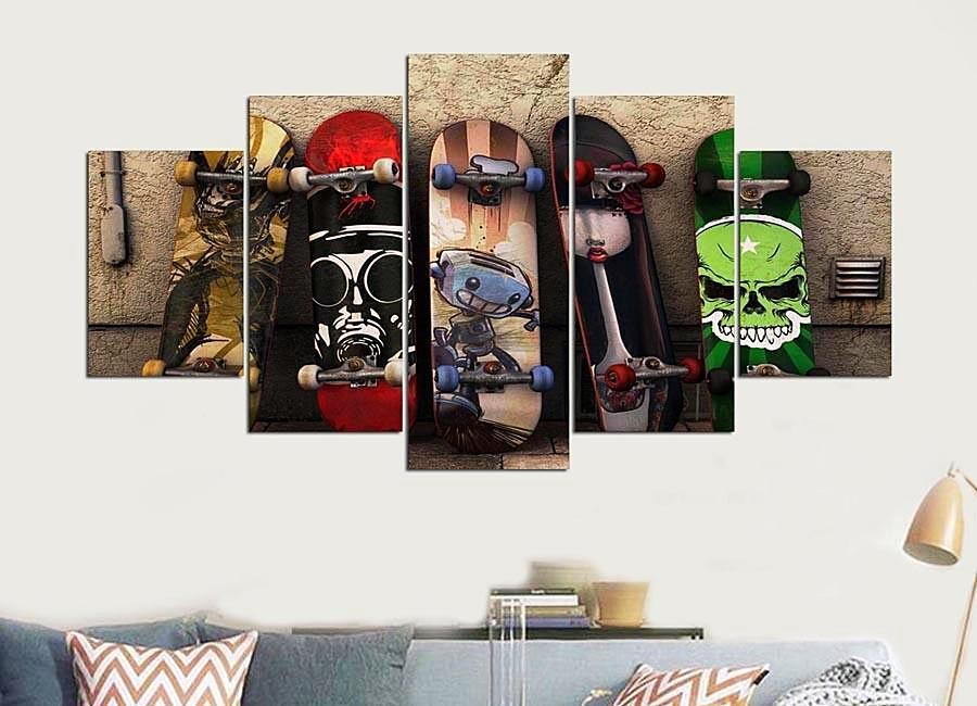Skateboard canvas art piece