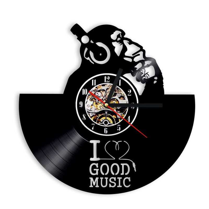 I Love Good Music Recycled LP Clock