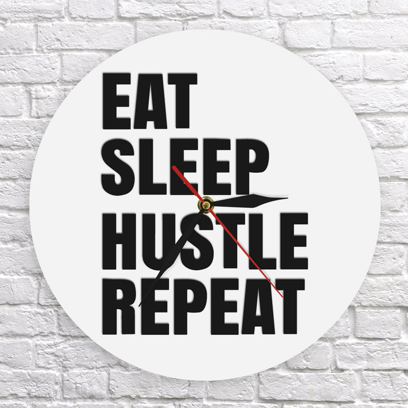 Hustlers Life Motivational  Clock