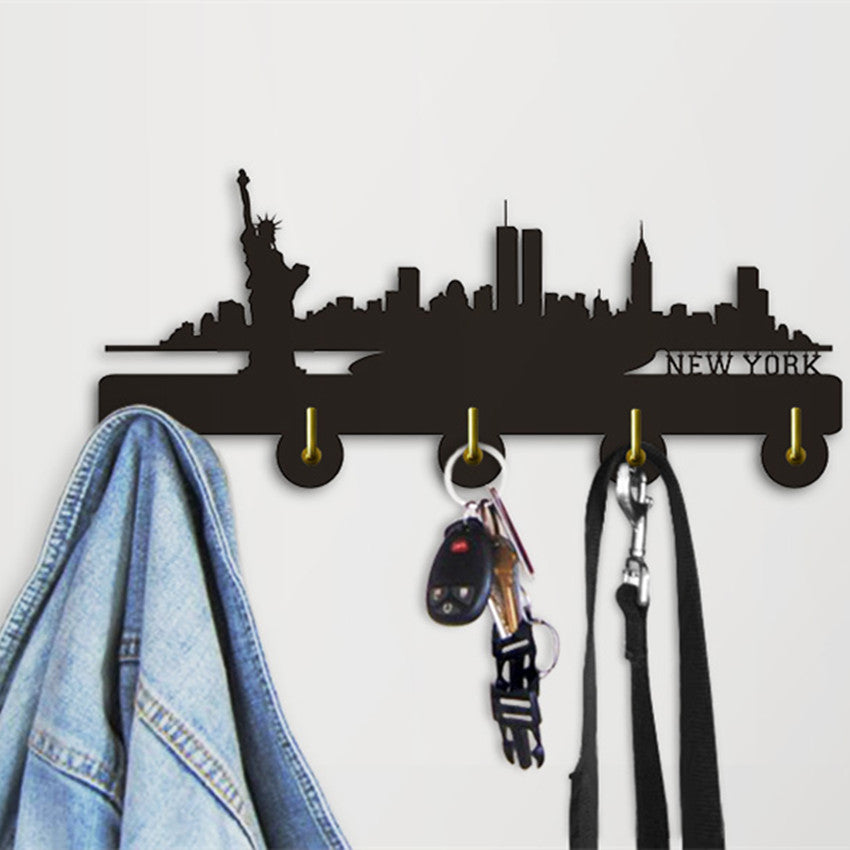 New York Skyline With Wall Hooks