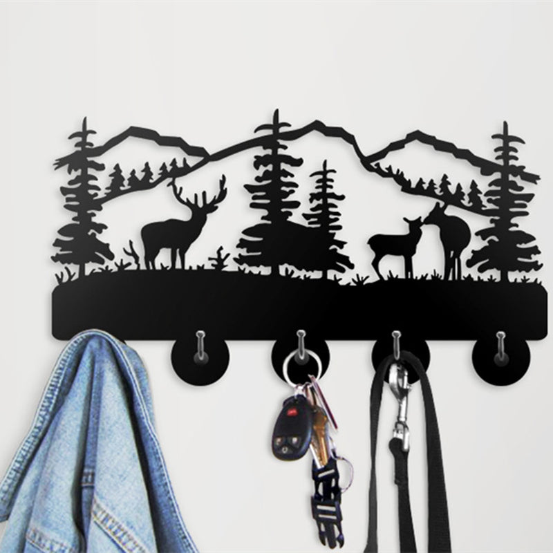 Three Elk Widlife Coat Hanger For Kitchen Bathroom