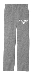 Cimarron Track - Open Bottom Fleece Sweatpants (Unisex)