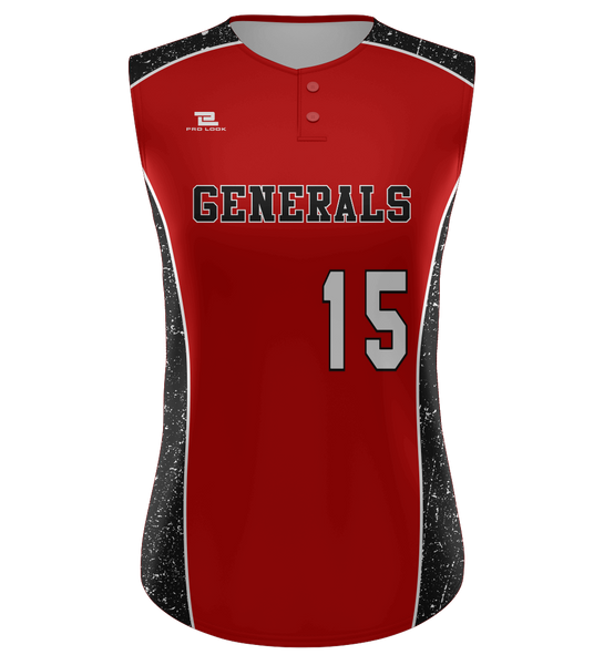 "ProLook Sublimated ""Chiefs"" Two Button Sleeveless Jersey"