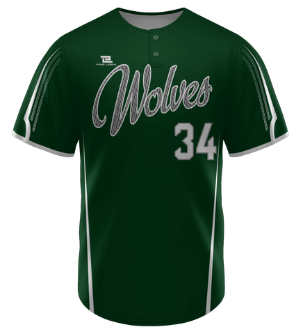 "ProLook Sublimated ""Eagles"" Two Button Baseball Jersey"