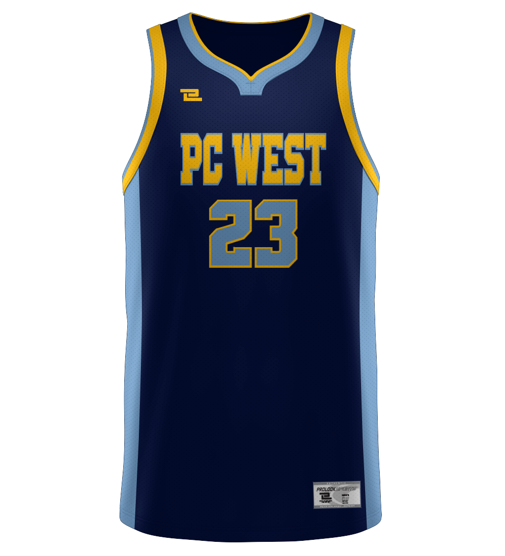 "ProLook Tackle/Twill ""Gold State"" Basketball Jersey"