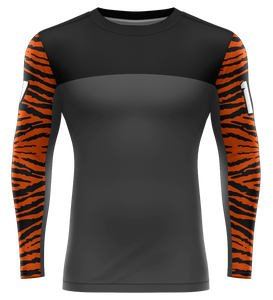 "ProLook Sublimated ""Tiger Patterned"" Full Sleeve Compression Tee"