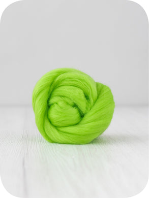 Extra fine merino (about 19 microns) wool tops/roving (Mint). DyeingHouseGallery DHG