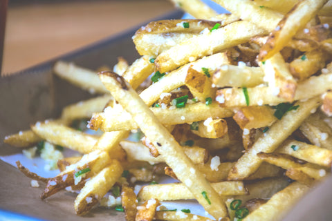 Parmesan Truffle Fries Made with Real White Truffle Oil