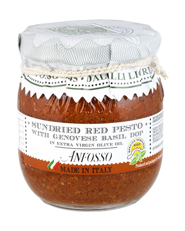Anfosso Sundried Red Pesto with Genovese Basil