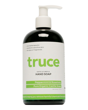 TRUCE Peppermint and Rosemary Organic Castille Hand Soap