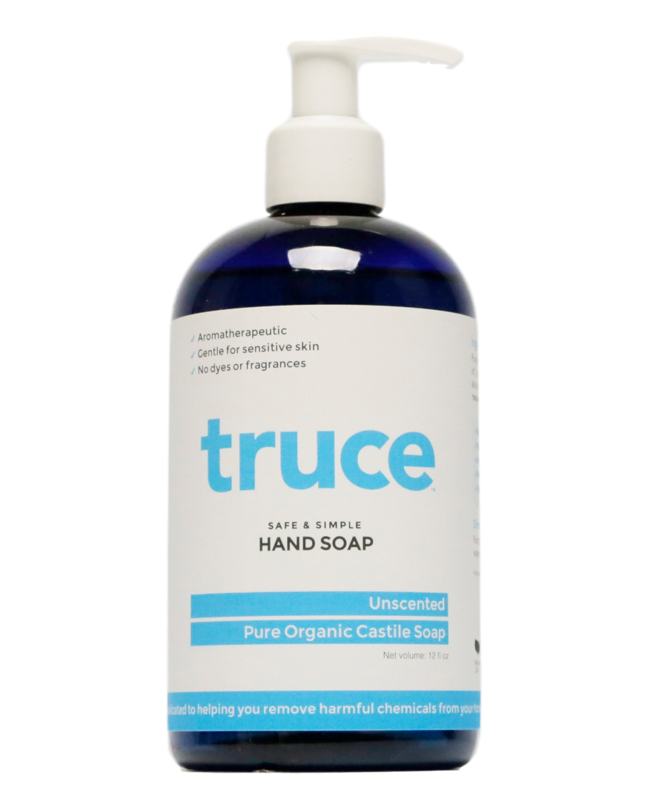 TRUCE Unscented Organic Castille Hand Soap