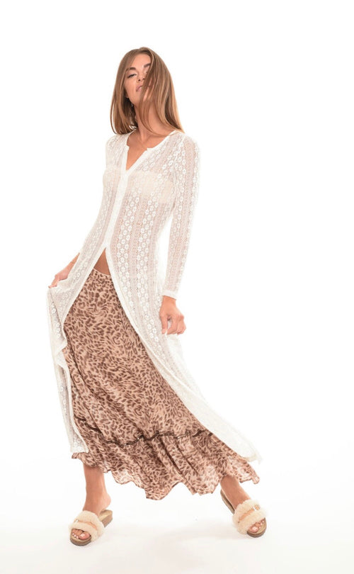 Muche and Muchette Long Leopard Skirt