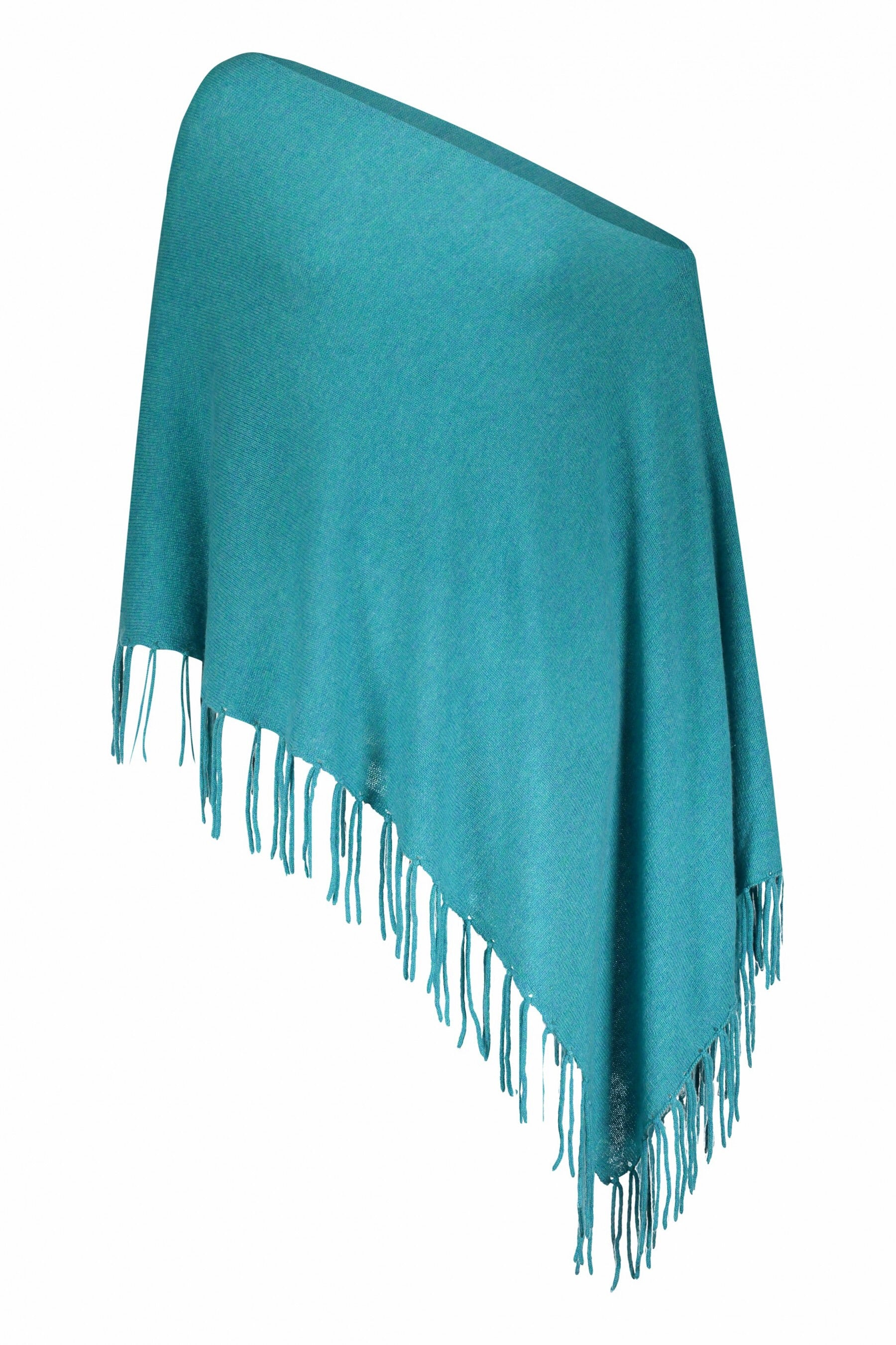 Fringed Dress Topper Poncho
