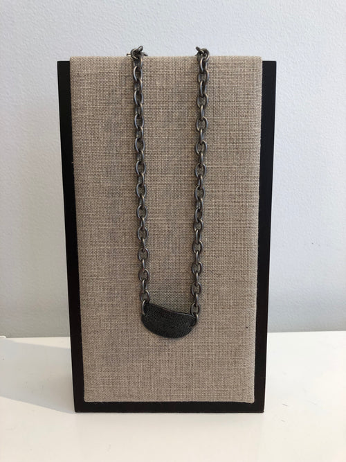 Black Diamond with Gunmetal Chain