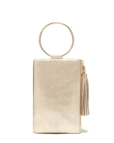 Beige crossbody with zipper