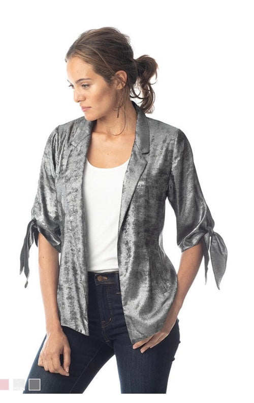 Lola and Sophie Silver Blazer With Ties