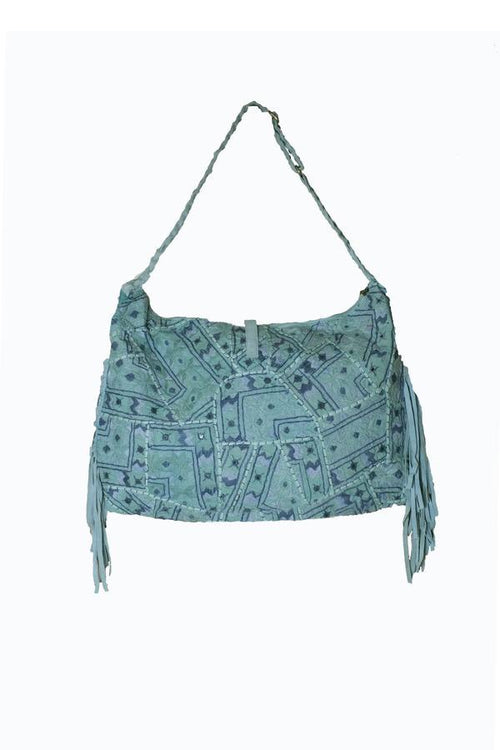 Turquoise Bag With Braided Handle - SOLD OUT