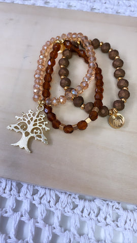 Bracelet Trio- Brown