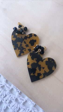 Lolita Charms- Animal print heart