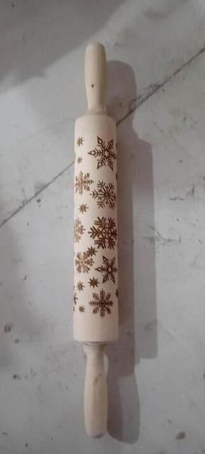 Christmas Engraved Rolling Pin