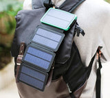 Foldable Dual USB 4-Panel Solar Power Bank & Charger - Get Energy From Sunlight