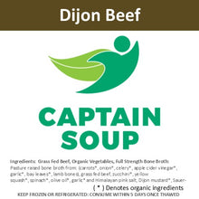 Dijon (Beef) - 16.5 oz Jars: Case of (9) frozen meals - $8.99 per meal (+deposit)