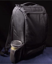 picture of soup container in a backpack