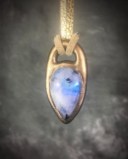Blue Rainbow Moonstone Talisman